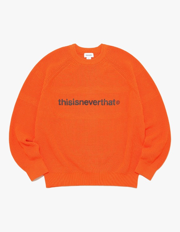 thisisneverthat T-Logo Knit Sweater - Orange | HEIGHTS. | International Store