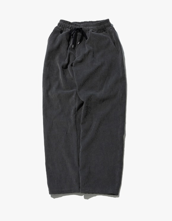 Kruchi lab Corduroy Keyring Easy Pants - Charcoal | HEIGHTS. | International Store