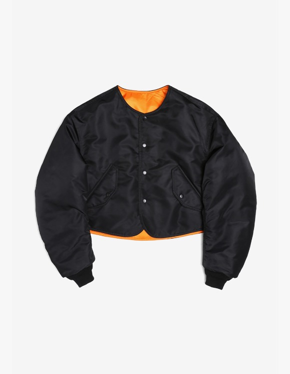 s/e/o Cropped Bomber Jacket - Black | HEIGHTS. | International Store