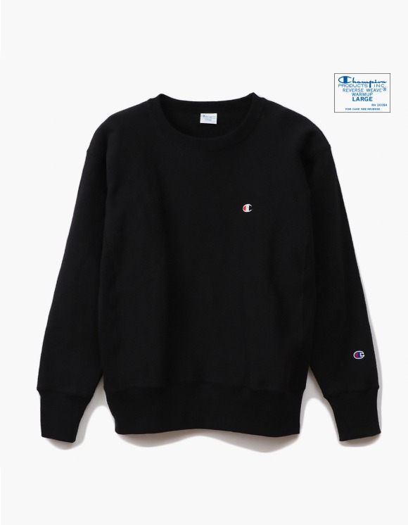 Champion Reverse Weave®11.5OZ Blue Tag Big Silhouette Crewneck - Black | HEIGHTS. | International Store