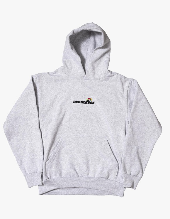 BRONZE56k Embroidered Speed Hoody - Ash Grey | HEIGHTS. | International Store