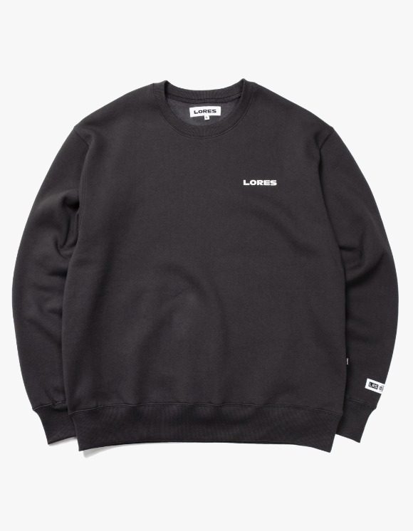 LORES Logo Crewneck - Charcoal Grey | HEIGHTS. | International Store