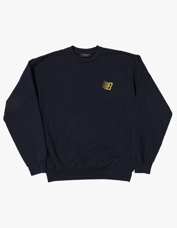 BRONZE56k Embroidered B Logo Crewneck - Navy | HEIGHTS. | International Store