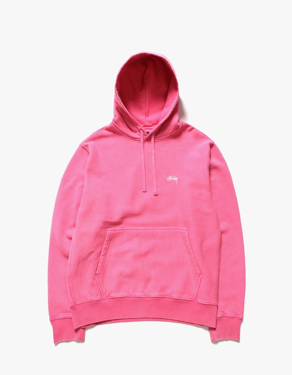Stussy Stock Logo Hoodie - Hot Pink | HEIGHTS. | International Store