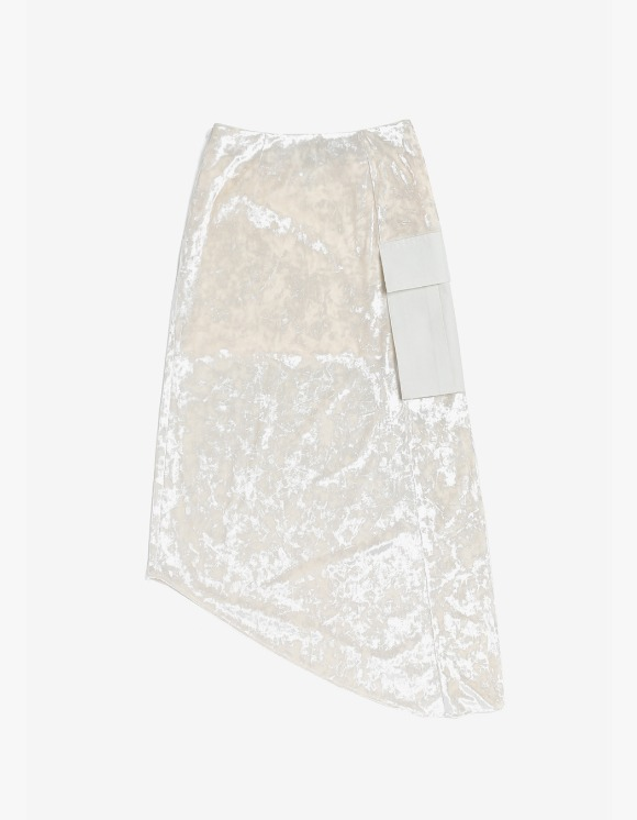 s/e/o Velvet Midi Skirt - Ivory | HEIGHTS. | International Store