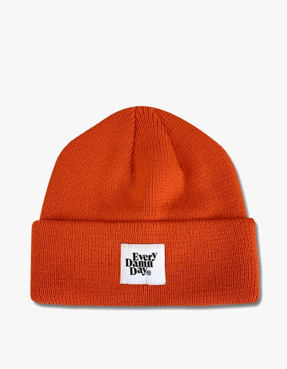 Kompakt Record Bar Every Damn Day Beanie - Orange | HEIGHTS. | International Store