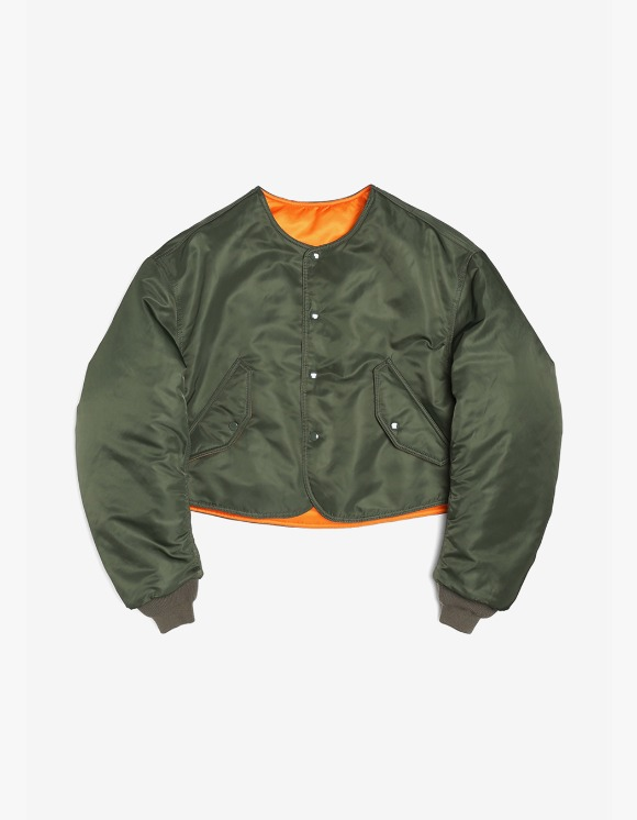 s/e/o Cropped Bomber Jacket - Khaki | HEIGHTS. | International Store