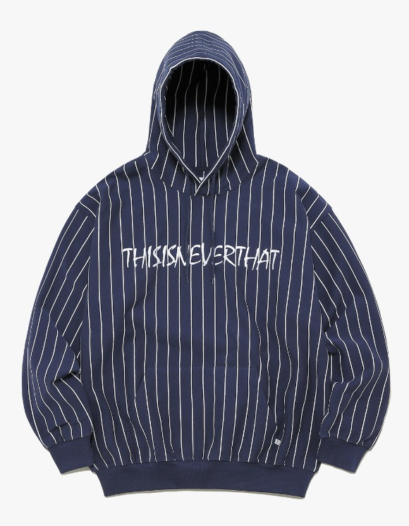 thisisneverthat Marker Script Logo Hooded Sweatshirt - Navy | HEIGHTS. | International Store