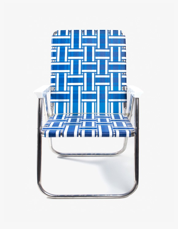 Lawn Chair Deluxe Chair - Blue and White | HEIGHTS. | International Store