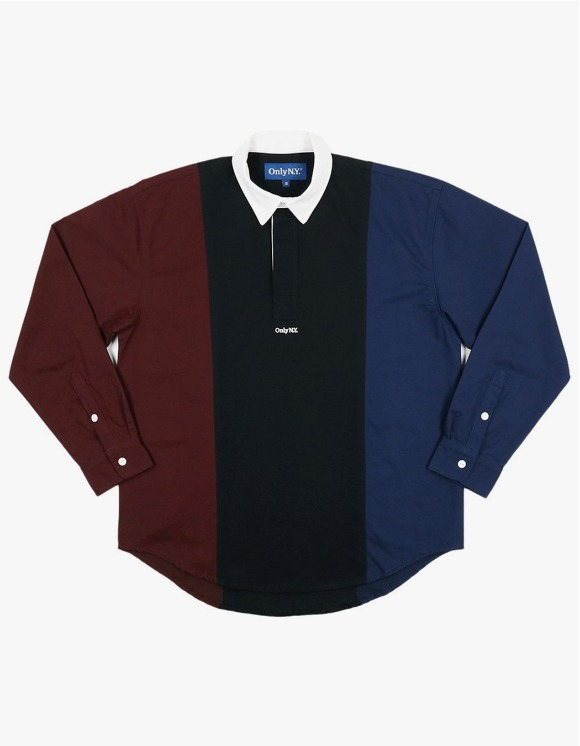 Only NY Tri Color Popover Shirt - Navy | HEIGHTS. | International Store