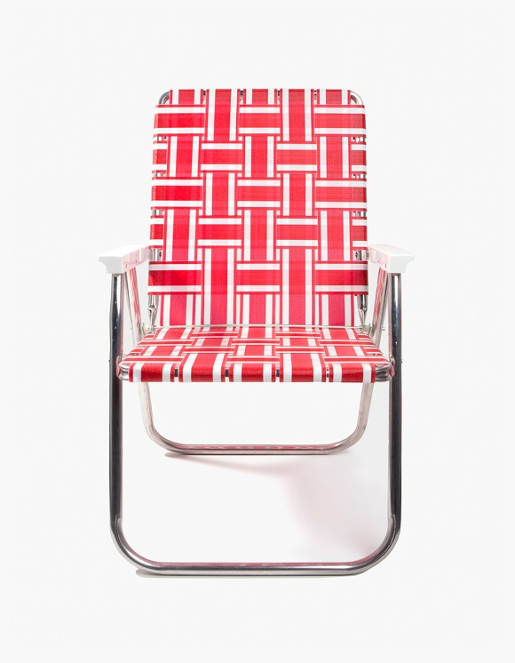 Lawn Chair Deluxe Chair - Red and White | HEIGHTS. | International Store
