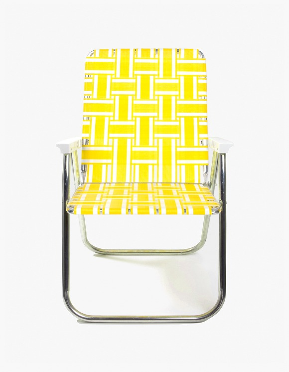 Lawn Chair Deluxe Chair - Yellow and White | HEIGHTS. | International Store