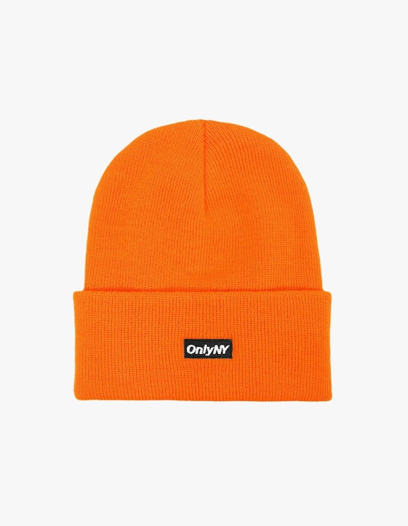 Only NY Block Logo Beanie - Orange | HEIGHTS. | International Store