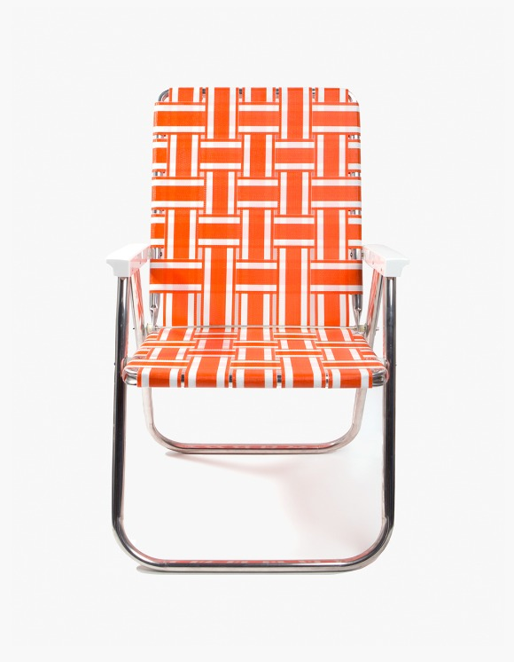 Lawn Chair Deluxe Chair - Orange and White | HEIGHTS. | International Store