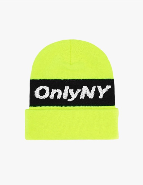 Only NY Knit Logo Beanie - Yellow | HEIGHTS. | International Store