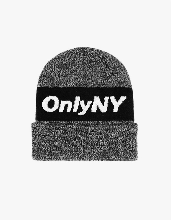 Only NY Knit Logo Beanie - Black | HEIGHTS. | International Store