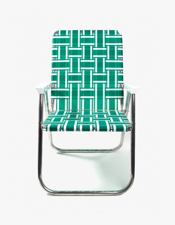 Lawn Chair Deluxe Chair - Green and White | HEIGHTS. | International Store