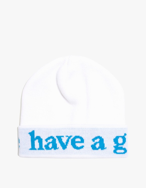 have a good time Side Logo Beanie - White | HEIGHTS. | International Store