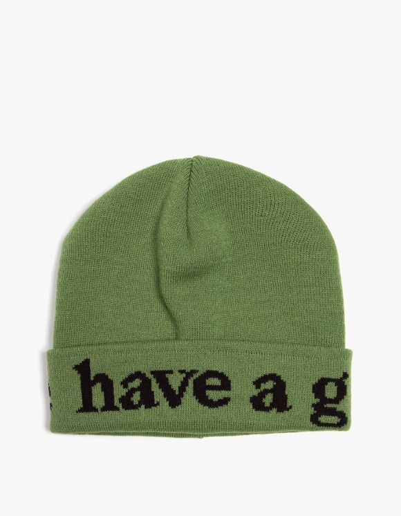 have a good time Side Logo Beanie - Olive | HEIGHTS. | International Store
