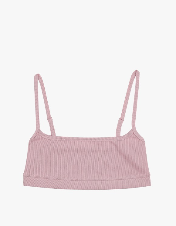 Dohyo Square Neck Rib Top - Pink | HEIGHTS. | International Store