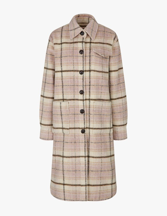 Margarin Fingers Over Shirt Coat - Beige Check | HEIGHTS. | International Store