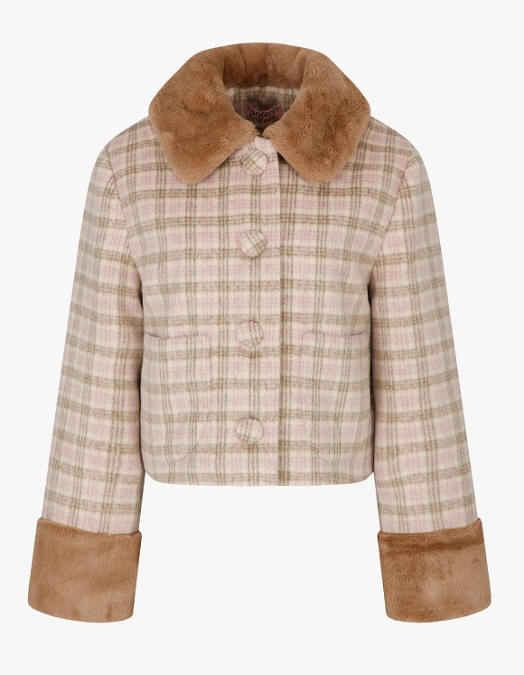 Margarin Fingers Brownie Coat - Brown Check | HEIGHTS. | International Store