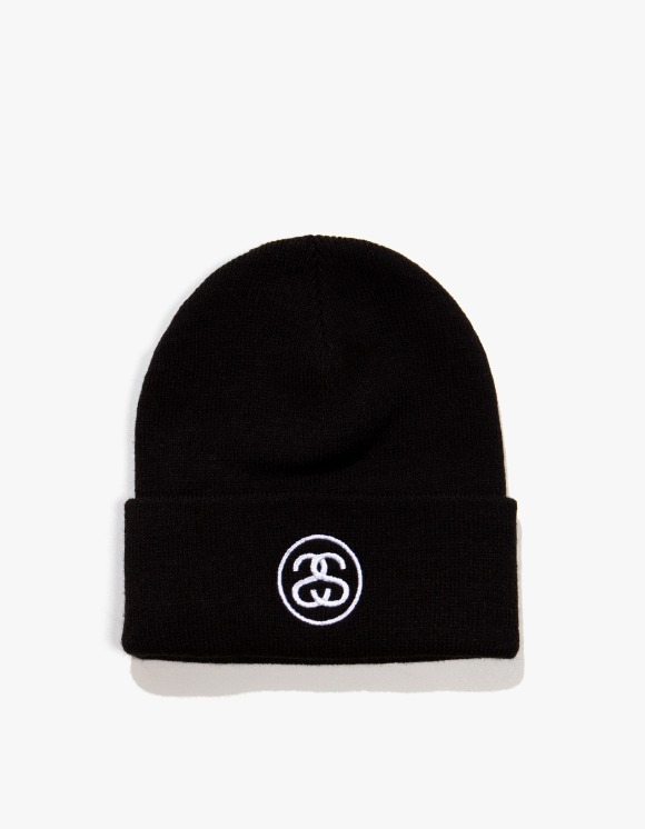 Stussy SS Link Cuff Beanie - Black | HEIGHTS. | International Store