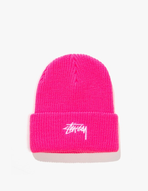 Stussy HO19 Stock Cuff Beanie - Fuschia | HEIGHTS. | International Store