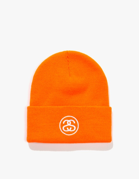 Stussy SS Link Cuff Beanie - Blaze Orange | HEIGHTS. | International Store
