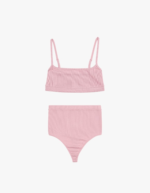 Dohyo Square Neck Rib Set - Pink | HEIGHTS. | International Store