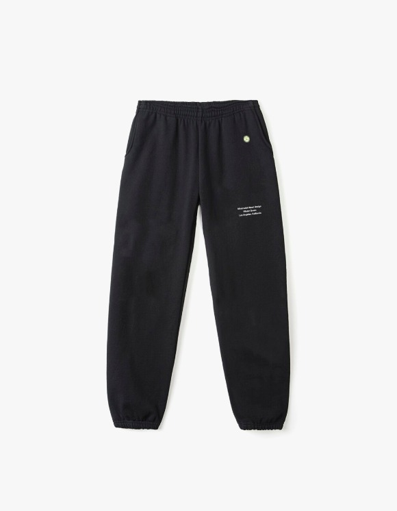 Mister Green Minimalist Weed Design Sweatpants - Black | HEIGHTS. | International Store