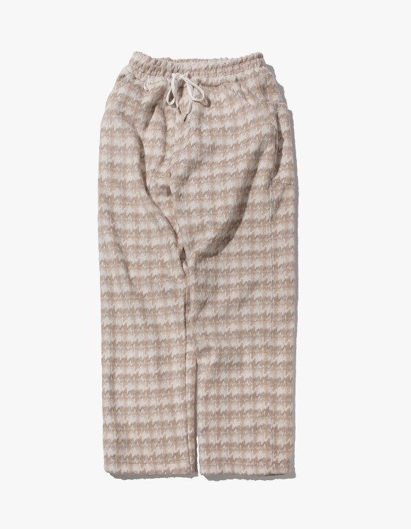 Kruchi lab Hound Tooth Check Easy Pants - Beige | HEIGHTS. | International Store