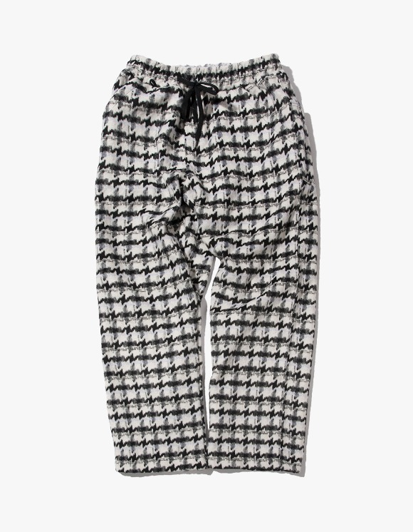 Kruchi lab Hound Tooth Check Easy Pants - Black | HEIGHTS. | International Store