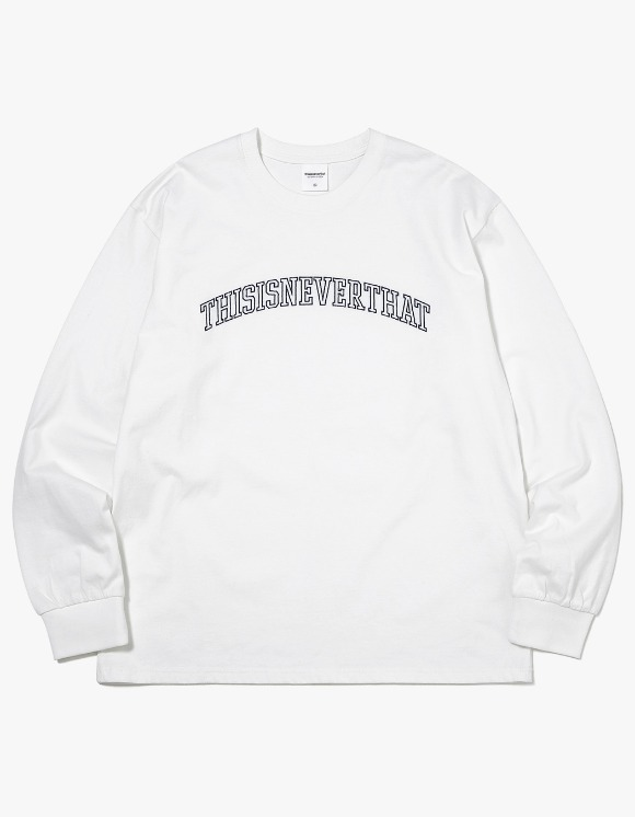 thisisneverthat ARC-Logo L/SL Top - White | HEIGHTS. | International Store