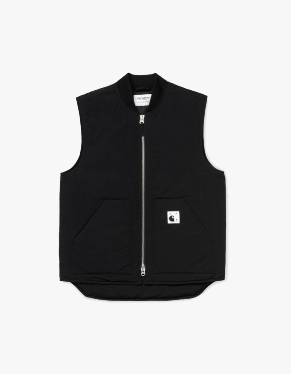 Pop Trading Company Pop x Carhartt WIP Classic Vest - Black | HEIGHTS. | International Store