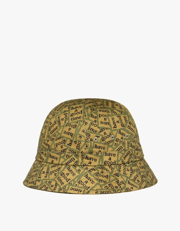 have a good time Mlitary Frame Allover Bucket Hat | HEIGHTS. | International Store