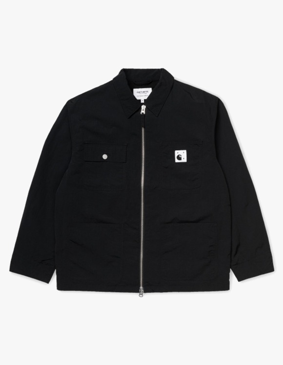 Pop Trading Company Pop x Pop_Carhartt WIP Michigan Chore Coat - Black | HEIGHTS. | International Store