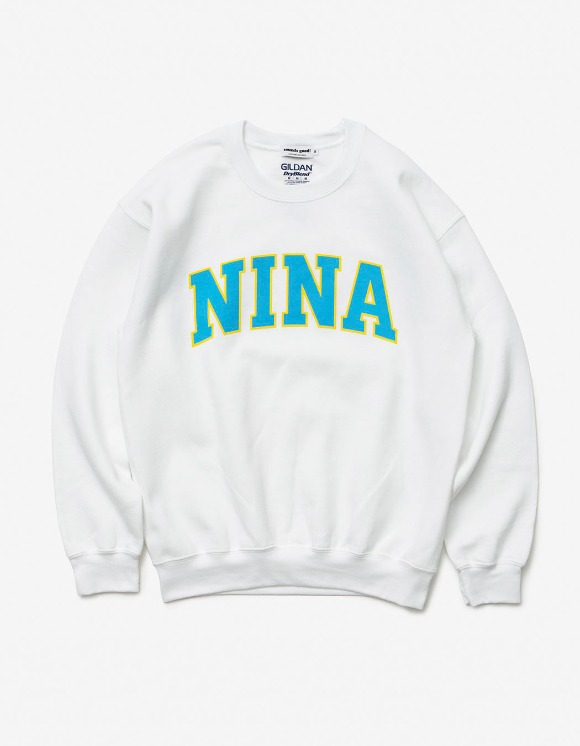 sounds good! Nina Crewneck - White | HEIGHTS. | International Store
