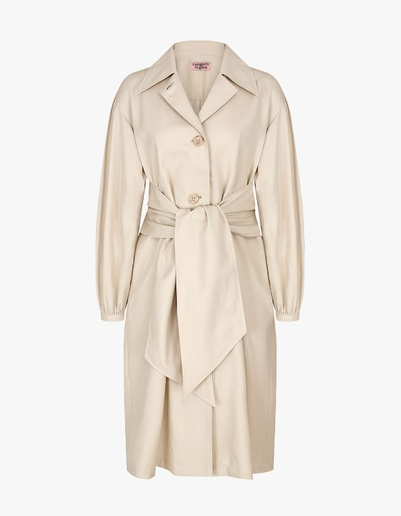 Margarin Fingers Bow Trench Coat - Light Beige | HEIGHTS. | International Store