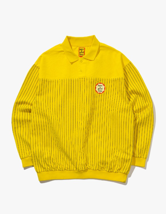 have a good time Circle Frame Washed Crewneck - Yellow | HEIGHTS. | International Store