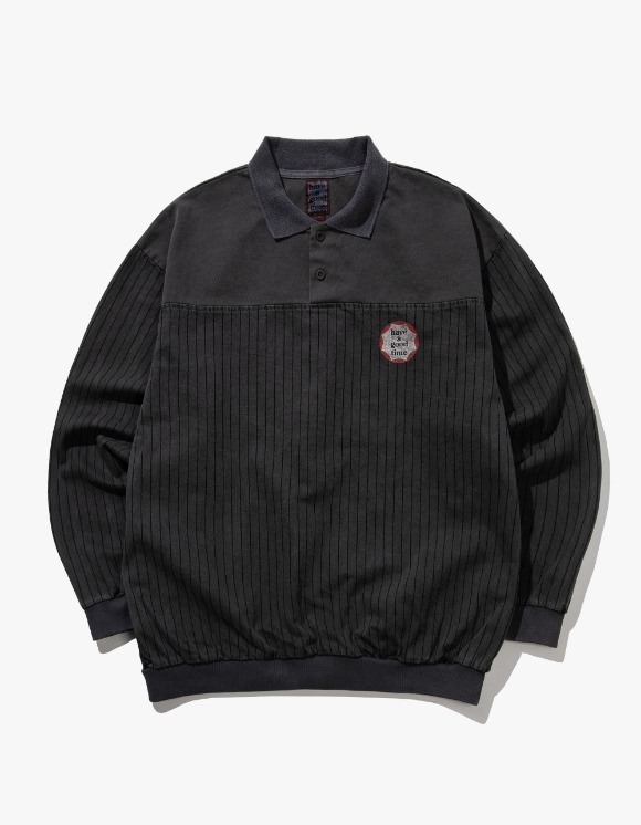 have a good time Circle Frame Washed Crewneck - Charcoal | HEIGHTS. | International Store