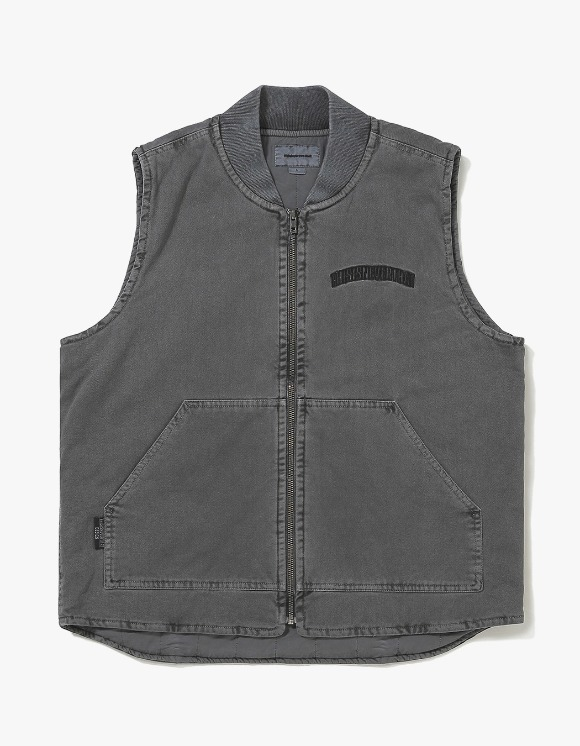 thisisneverthat Overdyed Work Vest - Charcoal | HEIGHTS. | International Store