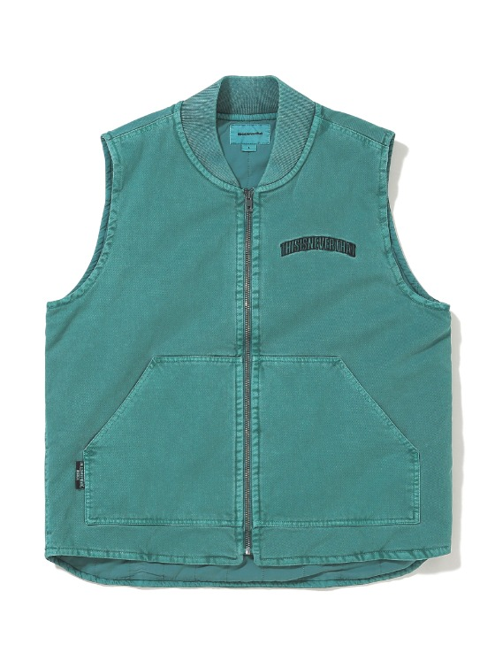thisisneverthat Overdyed Work Vest - Green | HEIGHTS. | International Store
