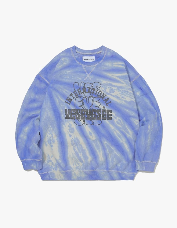 yeseyesee Dyed Sweatshirts - Blue/Ivory | HEIGHTS. | International Store