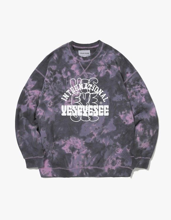 yeseyesee Dyed Sweatshirts - Black/Pink | HEIGHTS. | International Store