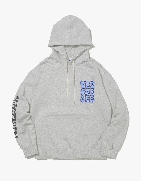 yeseyesee B-Logo Hoodie - Light Gray | HEIGHTS. | International Store