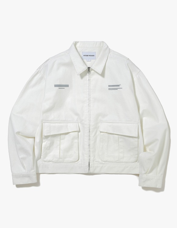 yeseyesee Vented Trucker Jacket - White | HEIGHTS. | International Store