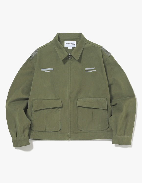 yeseyesee Vented Trucker Jacket - Olive | HEIGHTS. | International Store
