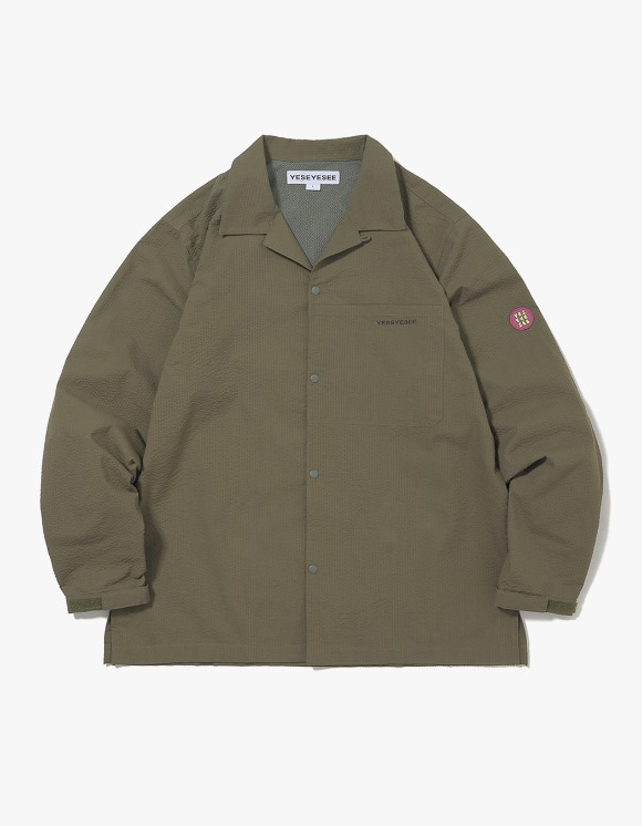 yeseyesee Seersucker Shirts - Olive | HEIGHTS. | International Store