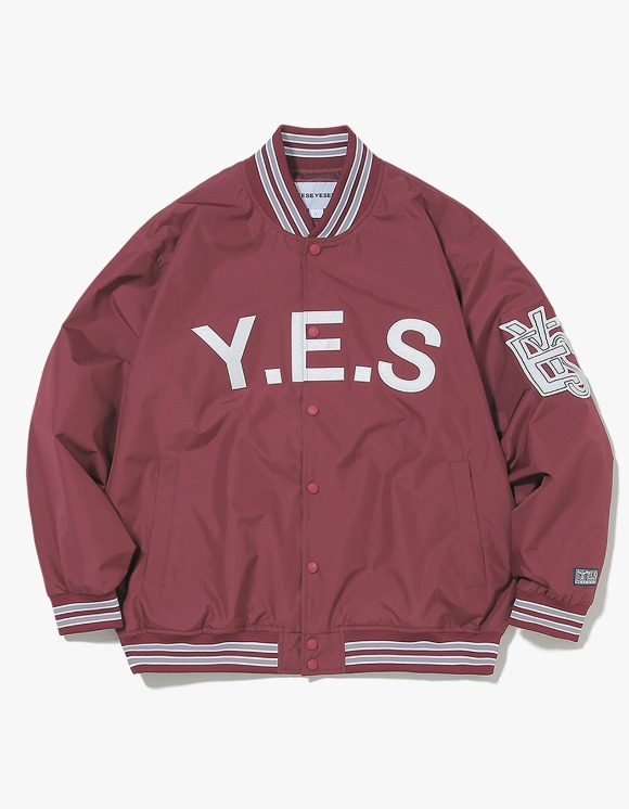 yeseyesee Varsity Jacket - Burgundy | HEIGHTS. | International Store